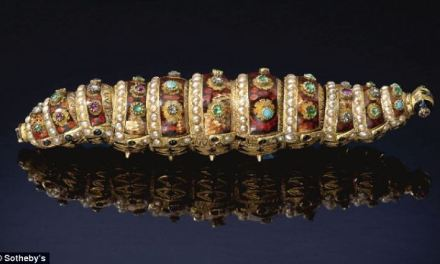 200 Year Old Jewelled Caterpillar Automaton Sells For $415K