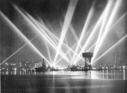 The skies over San Pedro, February 25, 1942.