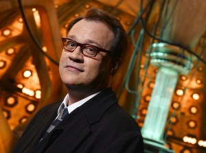 Russell T. Davies in the the TARDIS