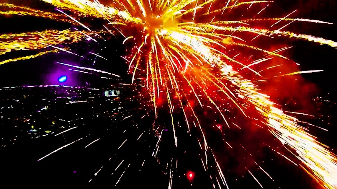 Video of the Day:  Flying a Quadrotor Through Fireworks