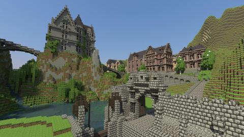 From simple blocks, amazing environments can be created and scripted by players of Minecraft.