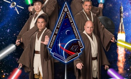 I.S.S. Astronauts Dressed as Jedi