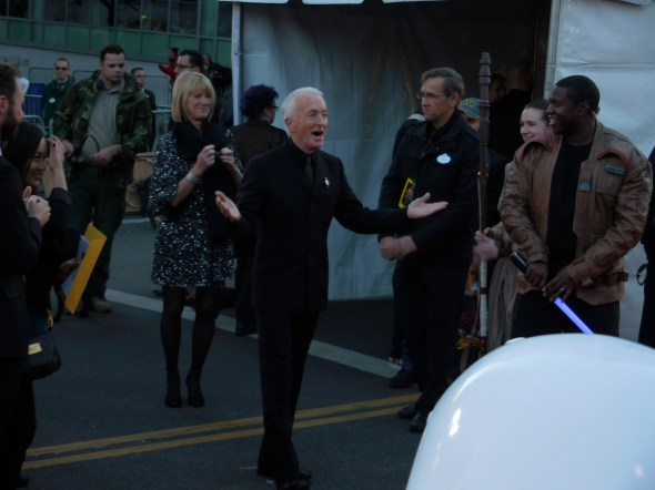 Anthony Daniels arrives.