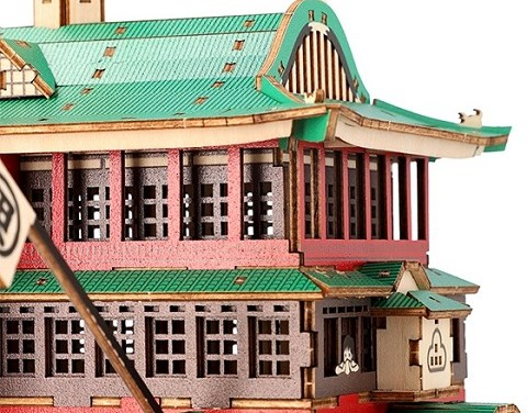 'Spirited Away' Bathhouse 3D Puzzle Kit, No Tools Needed