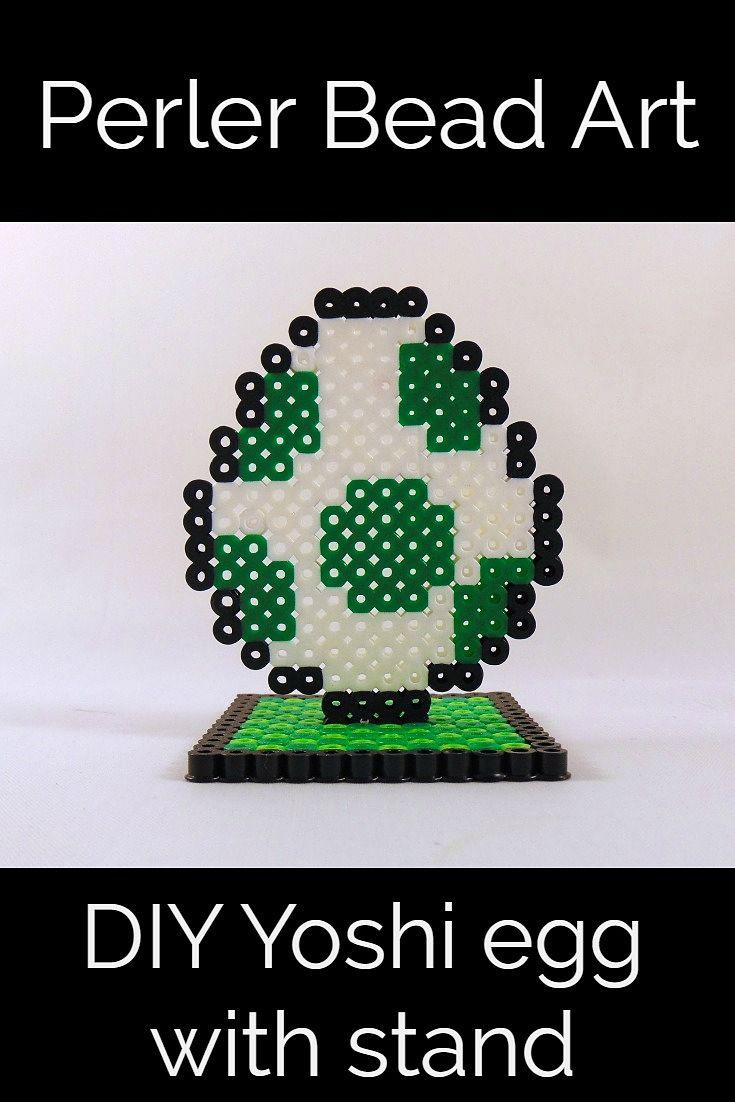 How to Make a Perler Bead Stand: Yoshi Egg