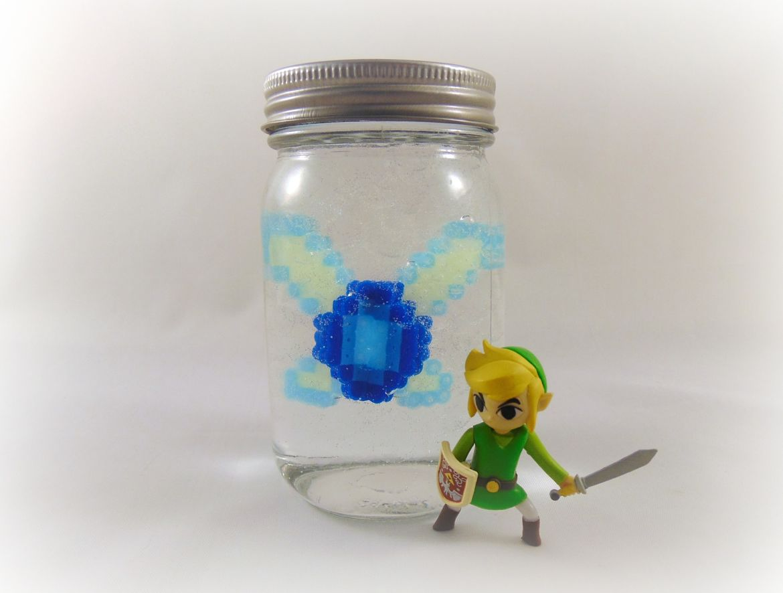 Zelda Crafts: Perler Bead DIY Navi in a Bottle – Krysanthe