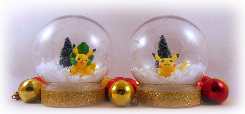 Pikachu DIY snow globes
