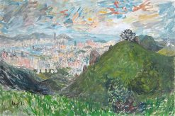 KRYS ROBERTSON: Fei Ngo Shan View of Hong Kong. Oil on canvas, 92 x 61cm. 2013