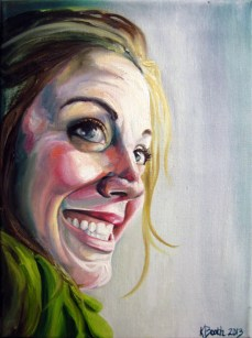 "Lauren, 2013, Oil on Canvas, 12x9"", Krystal Booth."