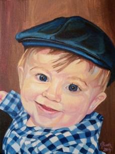 "Blue William, 2014, Oil on Canvas, 12x9"", Krystal Booth."
