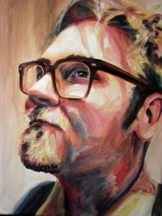 "Portrait of Matthew, 2013, Oil on Canvas, 12x9"", Krystal Booth."