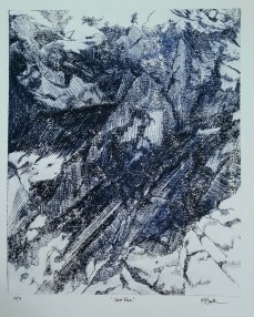 "Sea Rock, 2016, Intaglio, Series of 7, 14x11"", Krystal Booth"