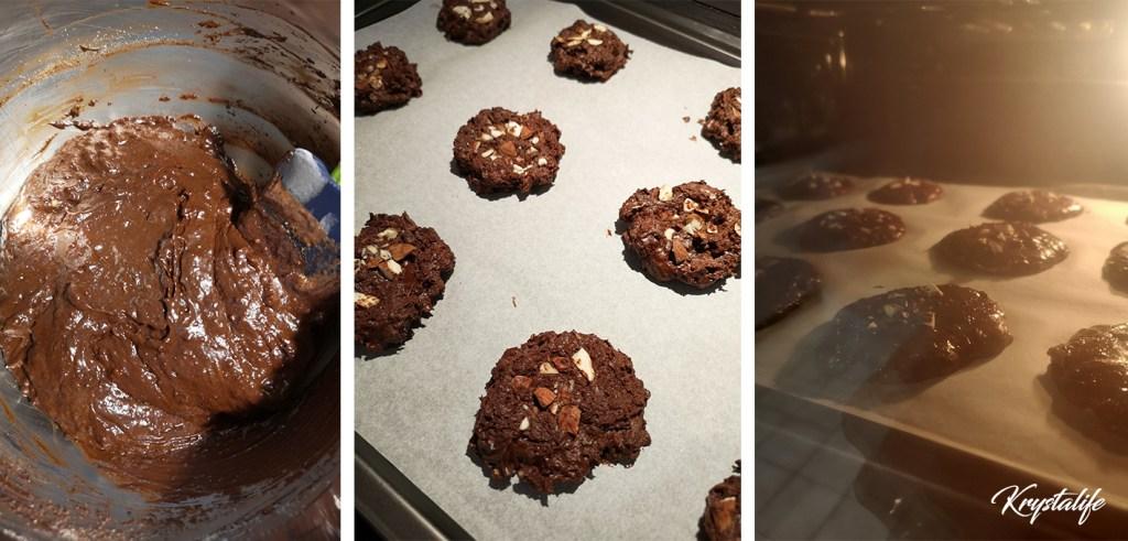 Préparation des biscuits chocolat noisette avec l'aquafaba
