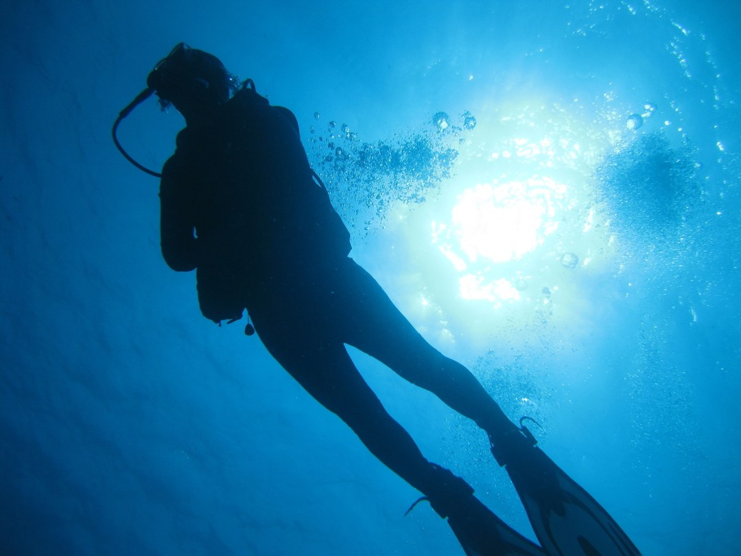 A scuba diver by Krystal International Vacation Club