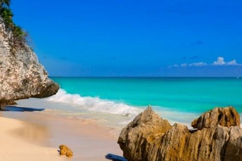 Tulum beach near Cancun Mexico