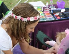 Face painting creates a memorable party