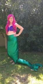 Mermaid with pink hair