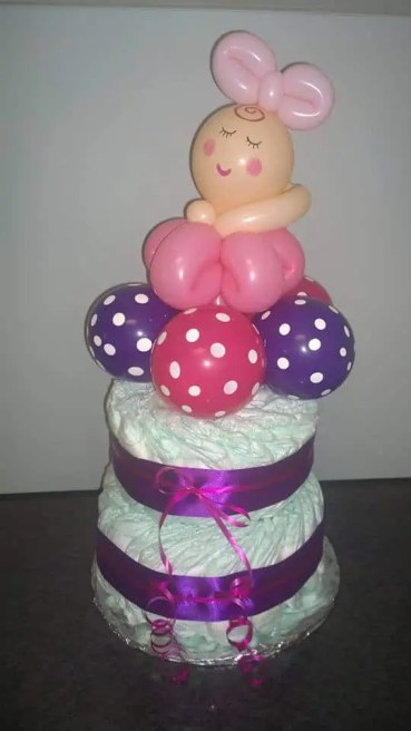 Balloon nappy cake only $60!