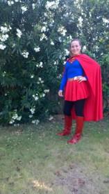 Super hero in red