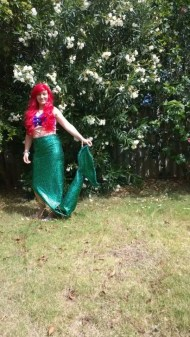 Mermaid with red hair