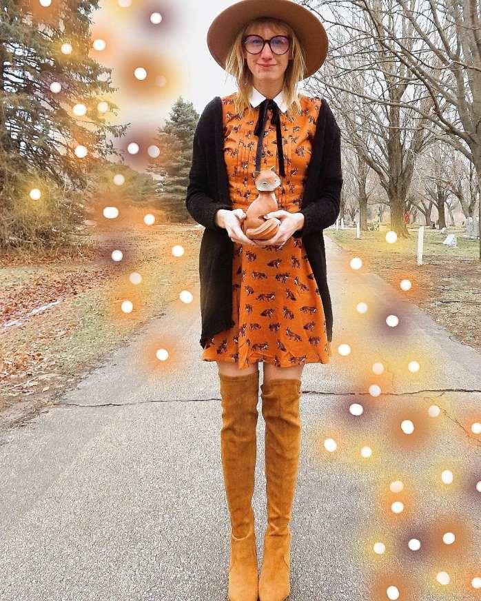 Fox print dress from Modcloth