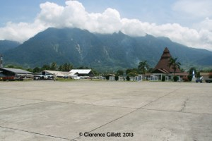 An airport in Papua, Indonesia. Some of my adventures happened at airports or on flights to and from school.