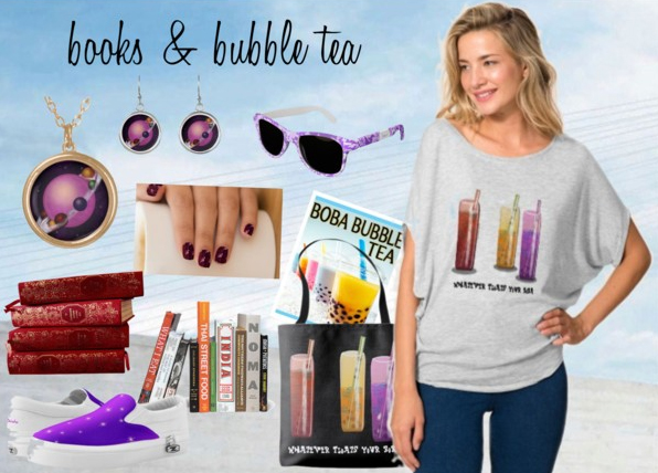 Shop my Books and Bubble Tea Collection on Zazzle