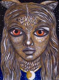 """""""Goddess of Intuition""""   Mixed Media on Paper   9x12   SOLD"""