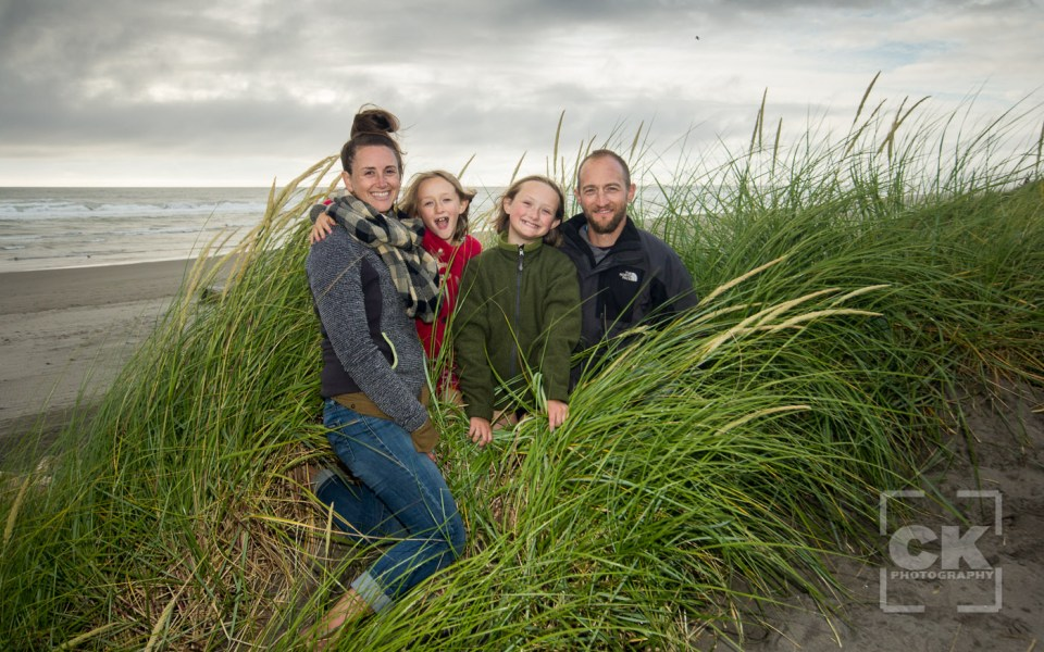 Chris Kryzanek Photography family - beach drama cloudy sea grass