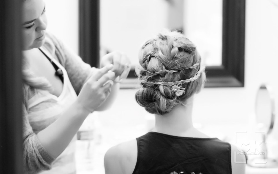 Chris Kryzanek Photography - Bride prep hair and makeup
