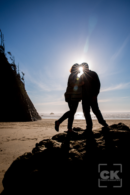 Engagement Session Oregon Coast Hug Point Cannon Beach photos