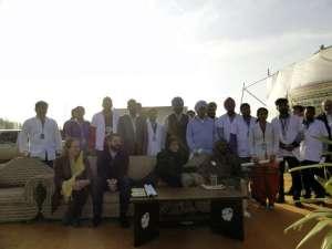 Eröffnung eines medical camps 2015
