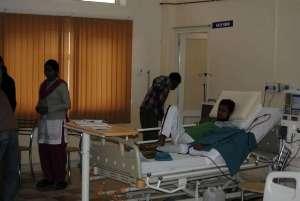 im Dialysezimmer des Hospitals