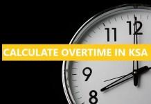 Overtime in Saudi Arabia