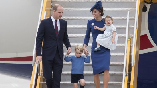 The Cambridges arrive in Canada
