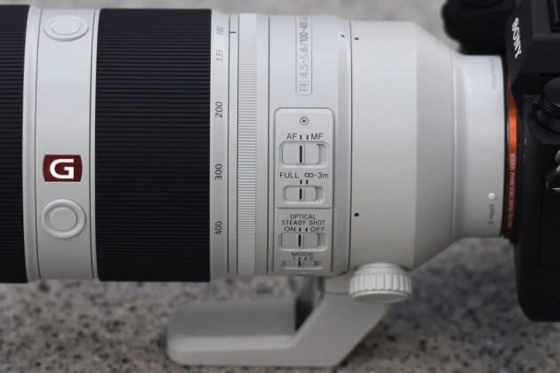 Sony 100-400mm GM переключатели