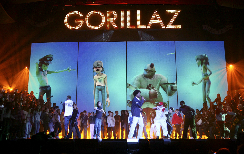 Image result for gorillaz live