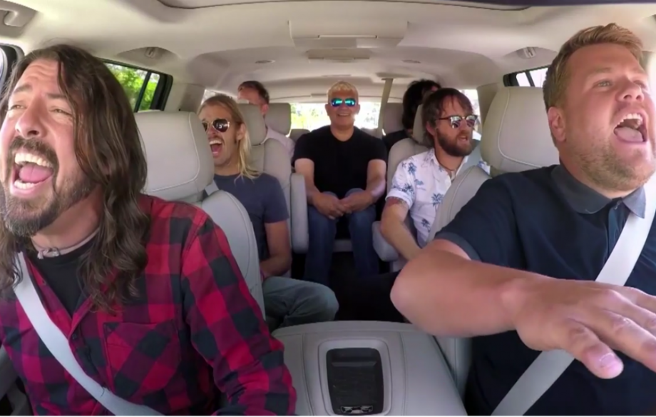 Image result for images of  foo fighters in car