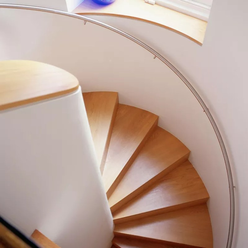 Spiral staircase in wood