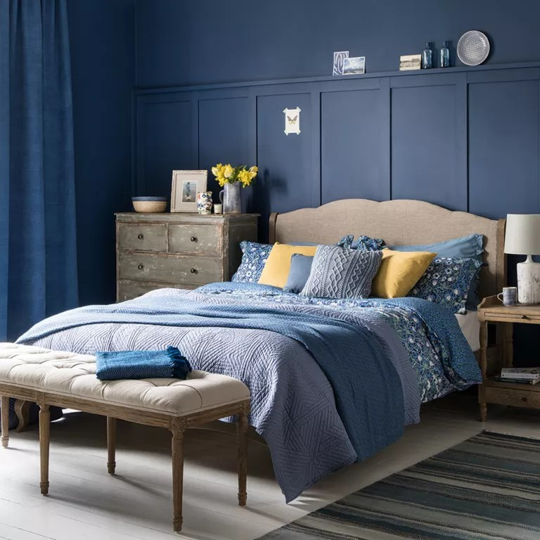 blue bedroom ideas see how shades from teal to navy can on Dark Blue Bedroom Ideas id=56966
