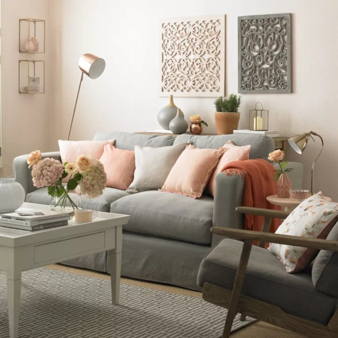 Peach And Grey Living Room Colour Schemes