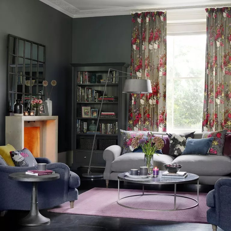 title | Light Silver And Red Living Room Decor