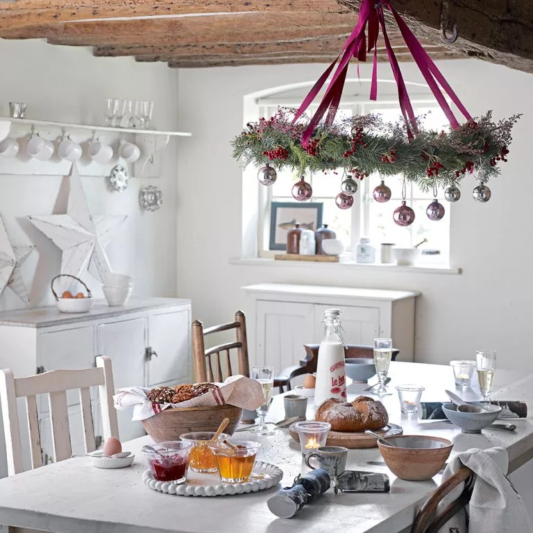 Kitchen Christmas decorating ideas that will cheer up the ... on Kitchen Decoration Ideas  id=28187