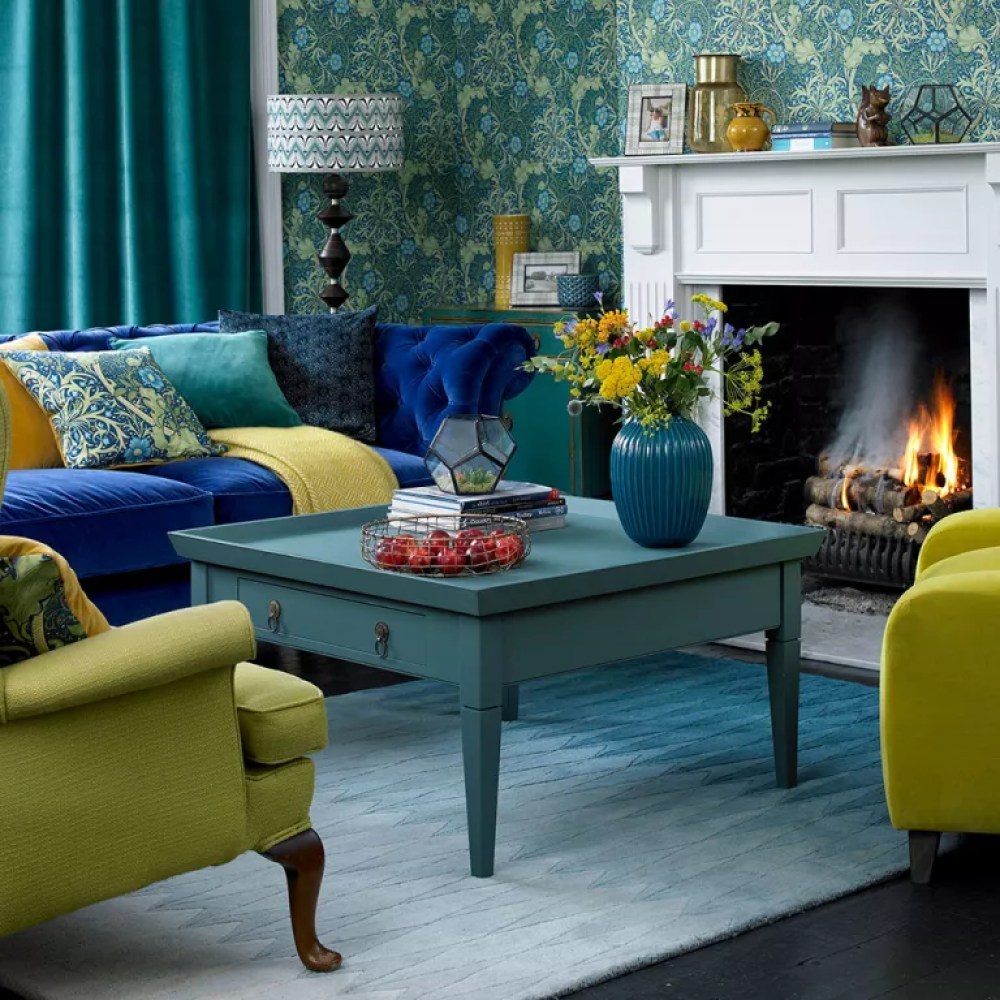 Green Living Room Ideas For Soothing Sophisticated Spaces: Blue And Green Living Room Ideas