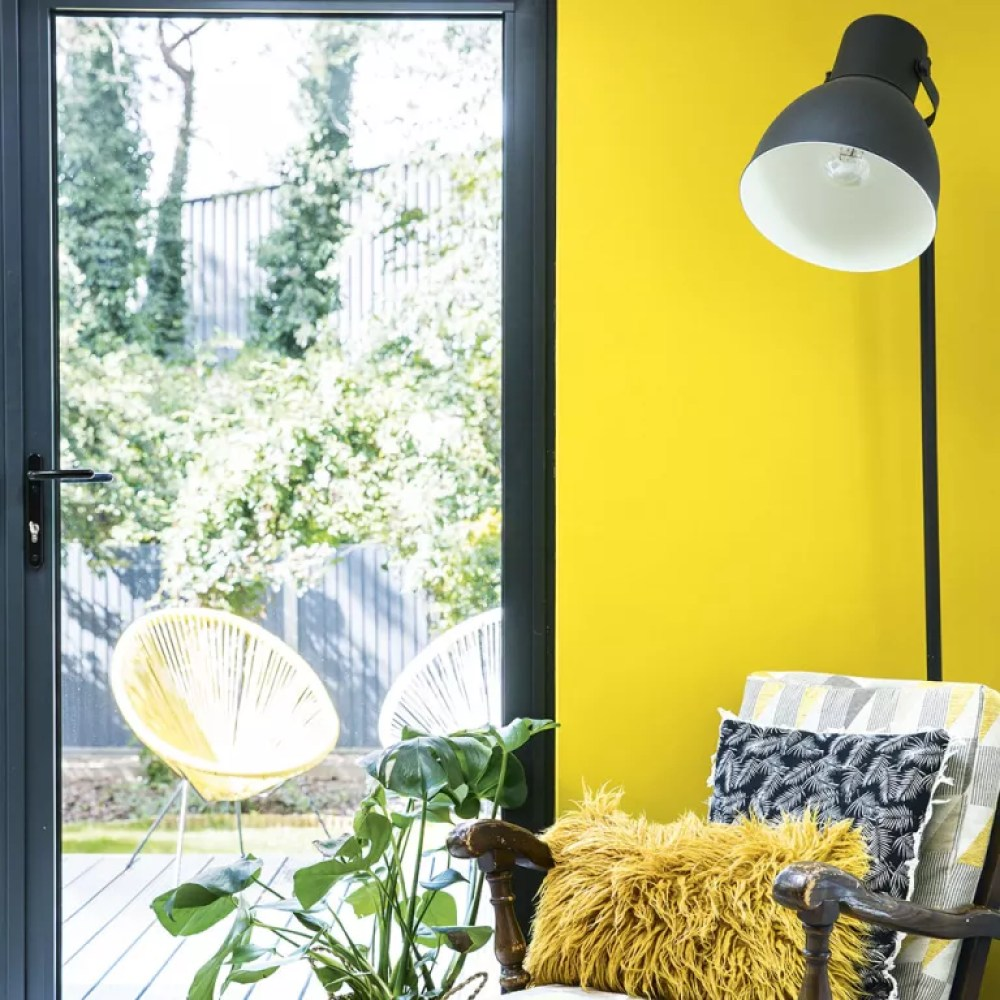 living room lighting ideas lamp in yellow sitting room