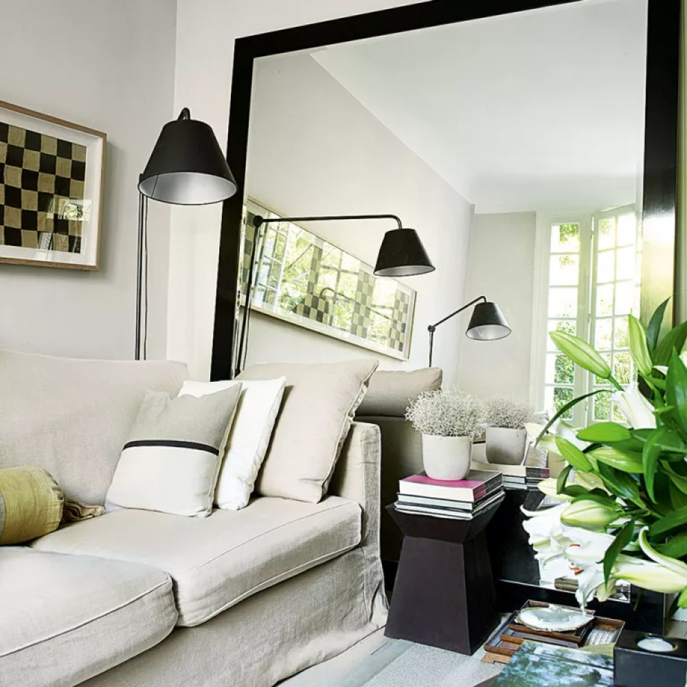 small living room ideas using mirrors