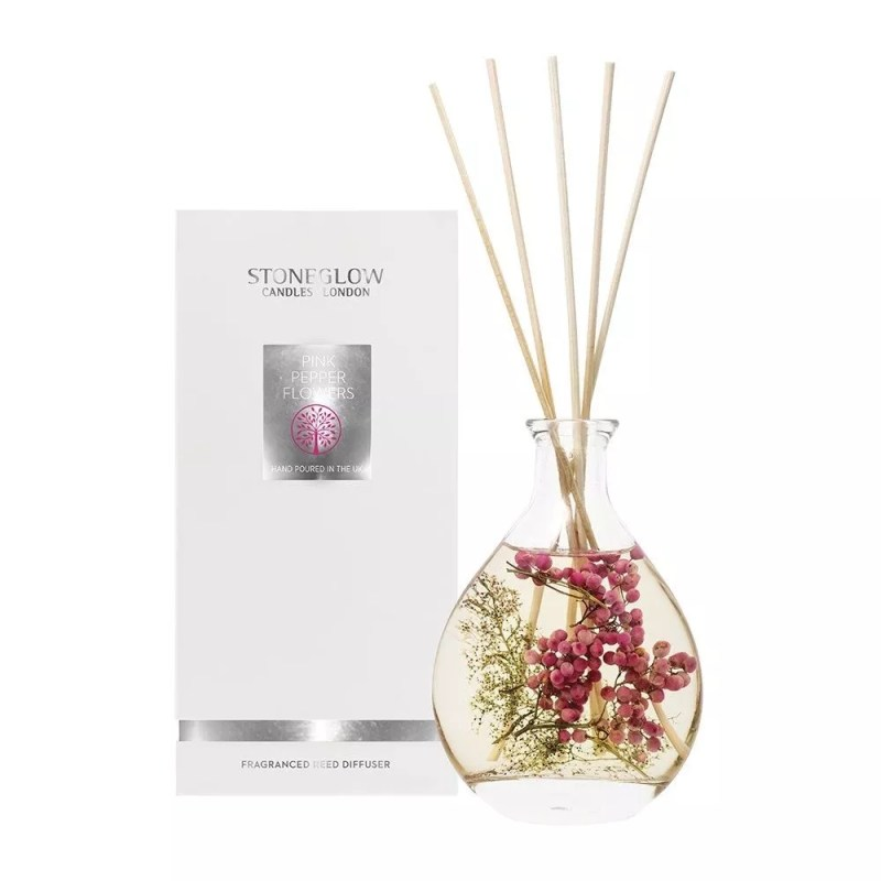 Stoneglow Natures Gift Pink Pepper Flowers Reed Diffuser