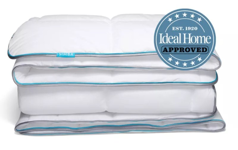 Simba Hybrid Duvet with Ideal Home Approved badge