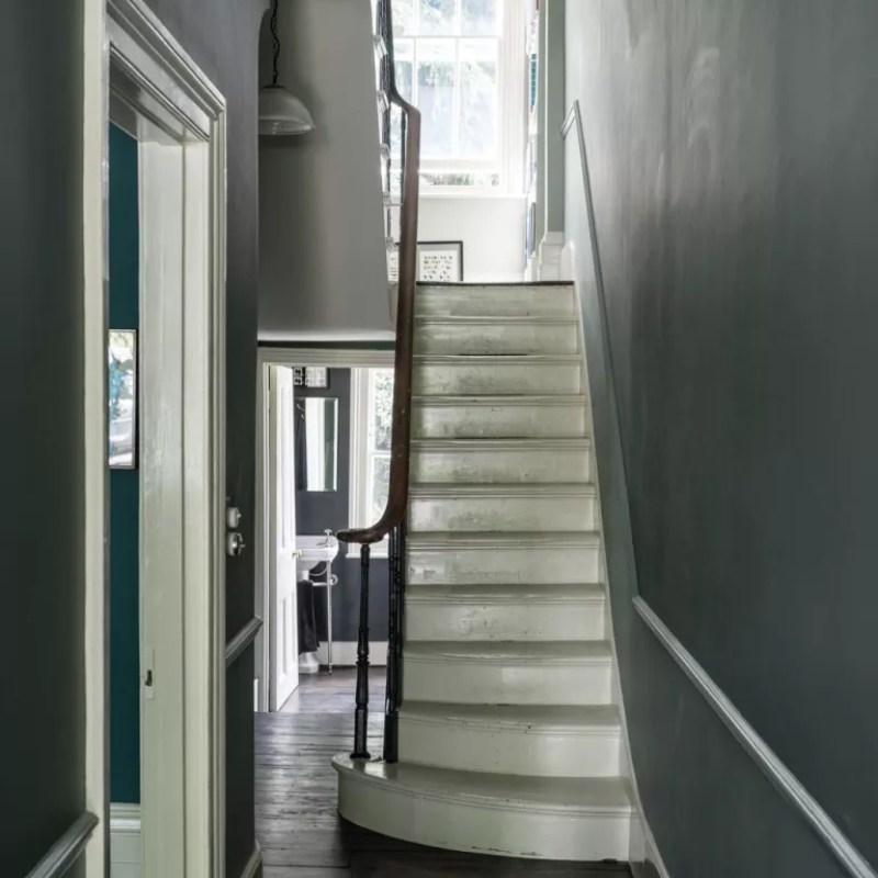 hallway painted in Farrow & Ball