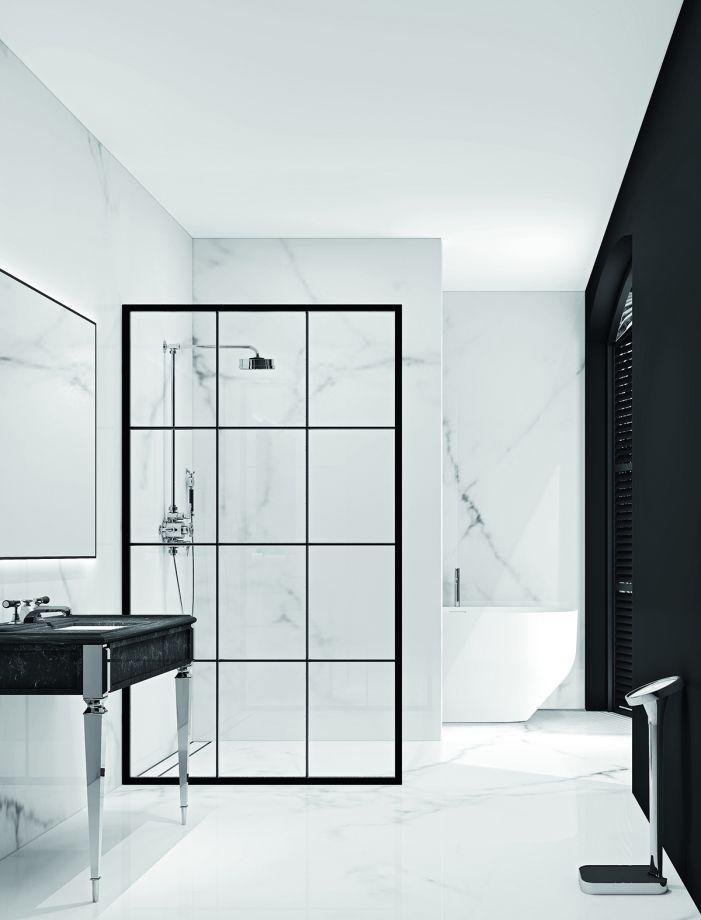 Modern Monochrome Bathroom Ideas: Black & White Bathroom ... on Monochromatic Bathroom Ideas  id=37400